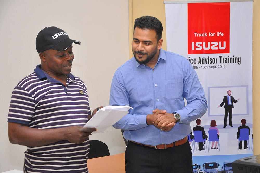 ISUZU West African Dealers Service Adviser Training Participants Photo 2