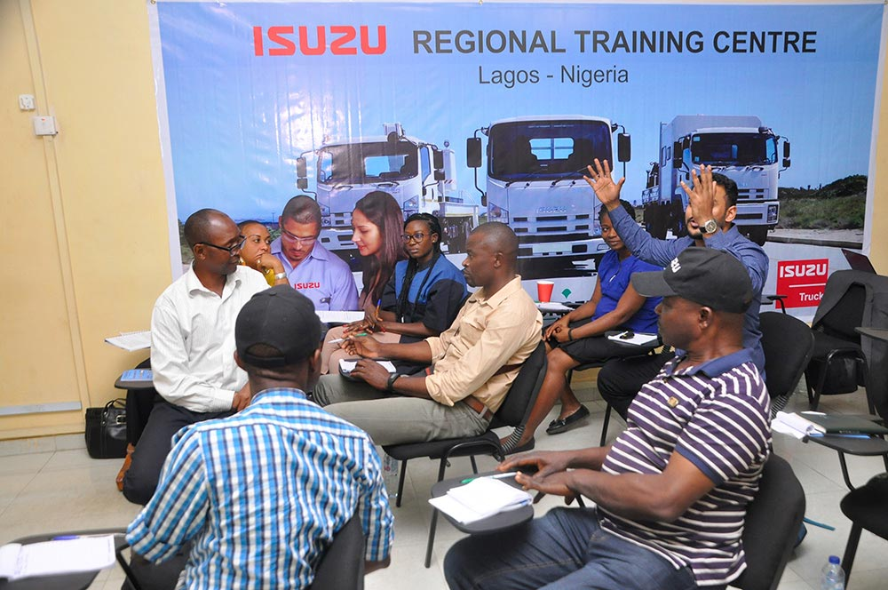 ISUZU West African Dealers Service Adviser Training Participants Photo
