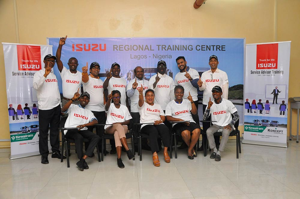 Isuzu West African Dealers Service Adviser Training Group Photo