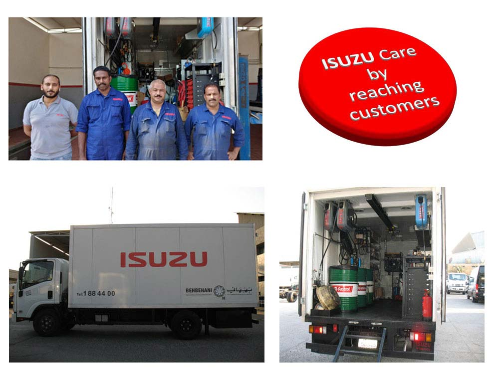 Isuzu Care Mobile Service Teams by Reaching Customers