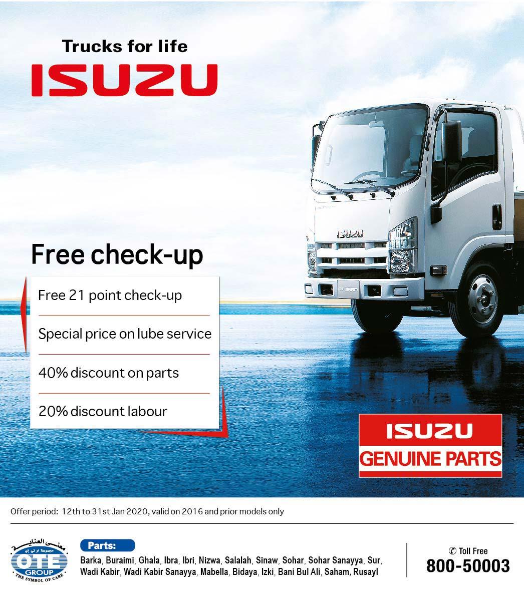 Isuzu Truck Free Check up Campaign Banner