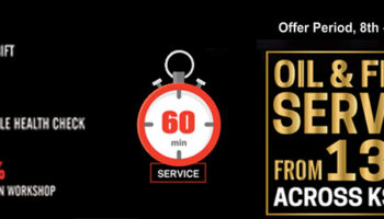 ISUZU 60min service with competitive price in KSA