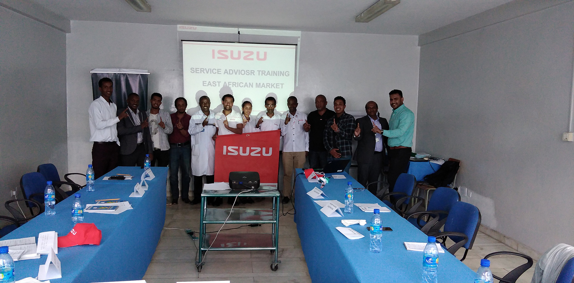 Isuzu Conducted Service Training for East Africa Group Photo