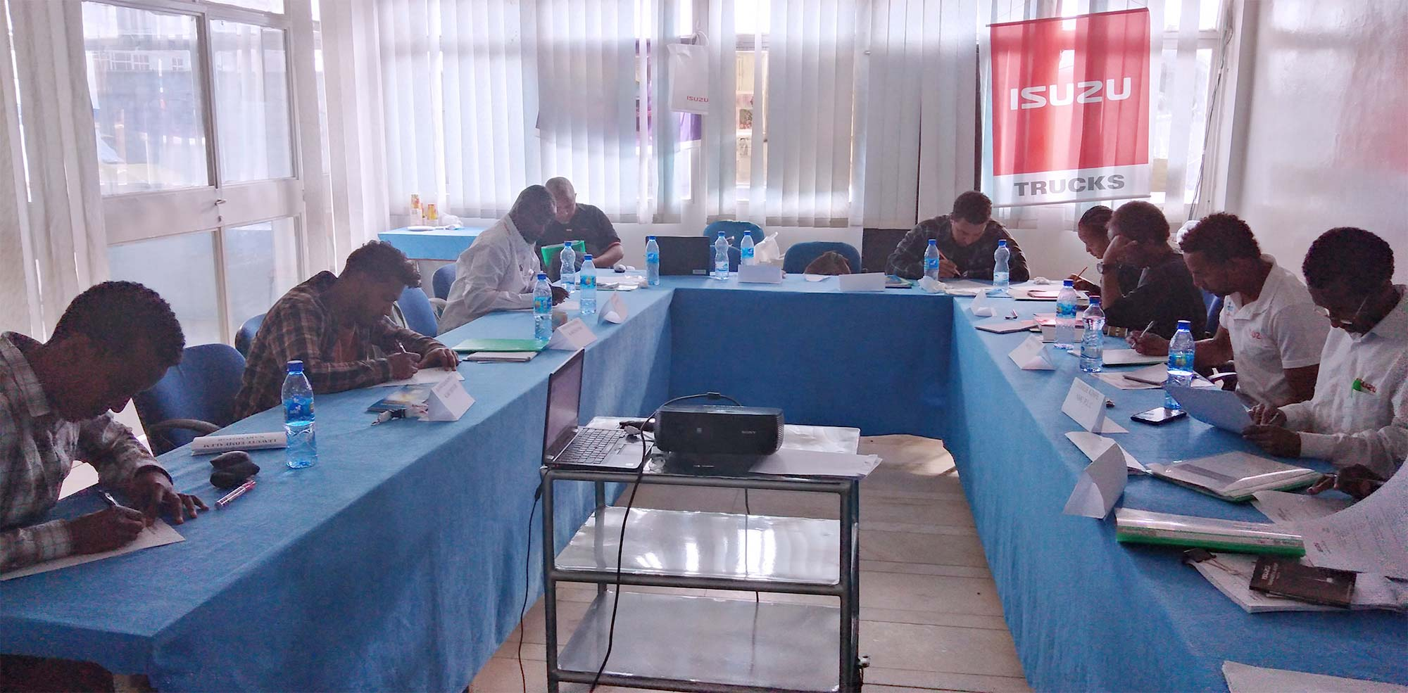 Isuzu Conducted Service Training for East Africa Written Activity