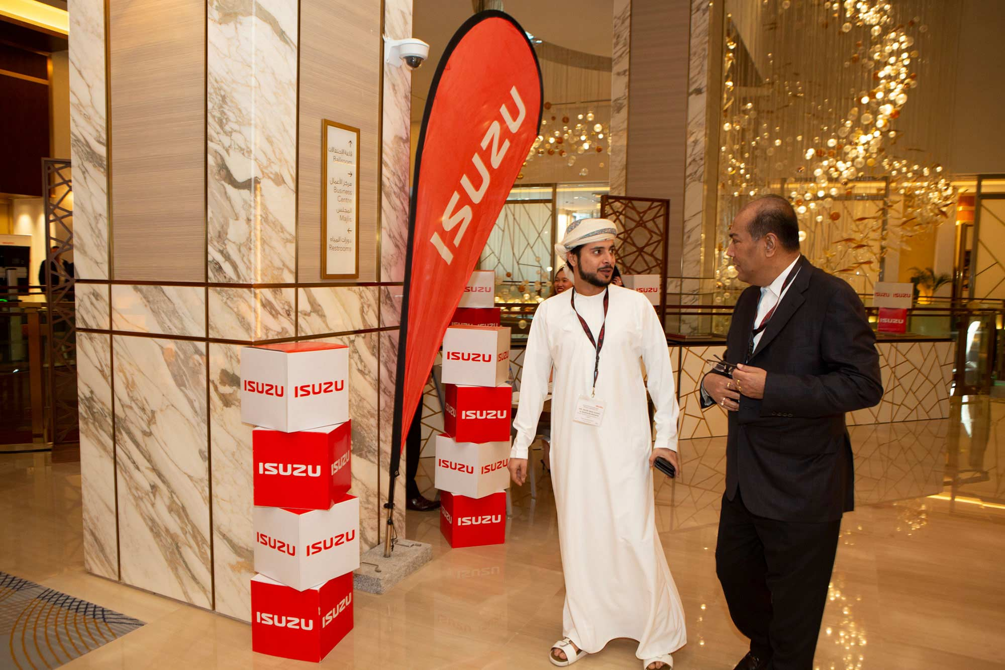 Isuzu Middle East and Africa Regional Conference 2020 Guest Entering