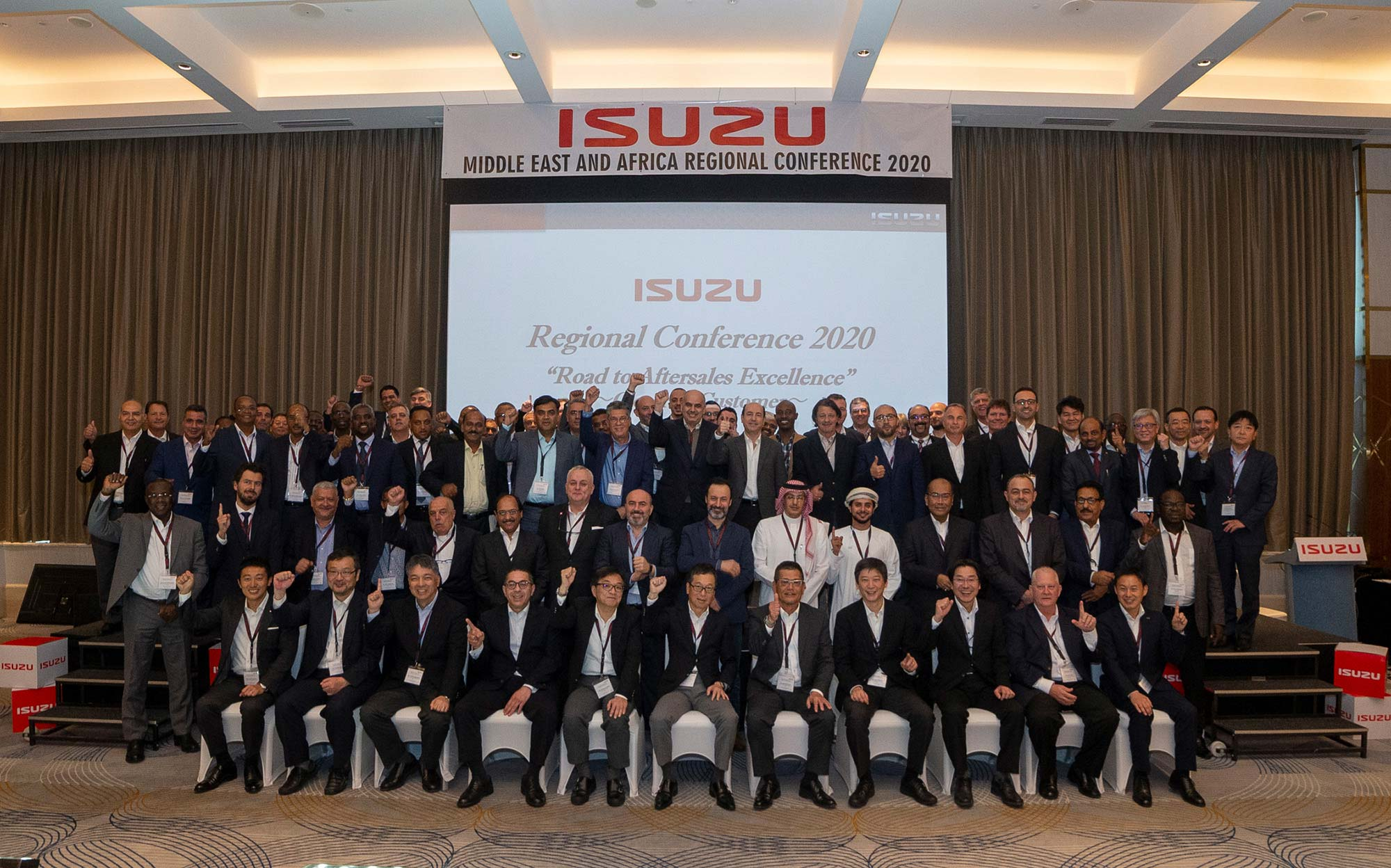 Isuzu Middle East and Africa Regional Conference 2020 Group Photo