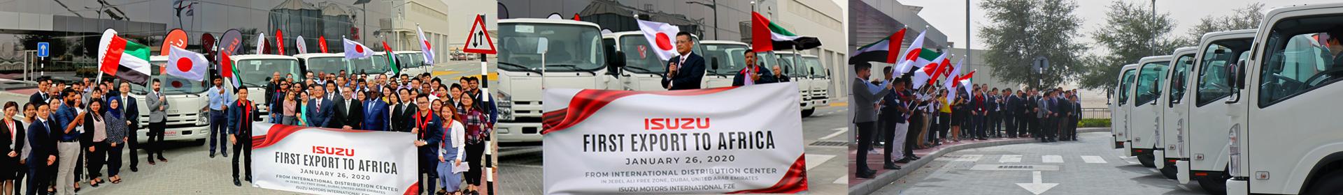 Isuzu First Export to Africa Banner