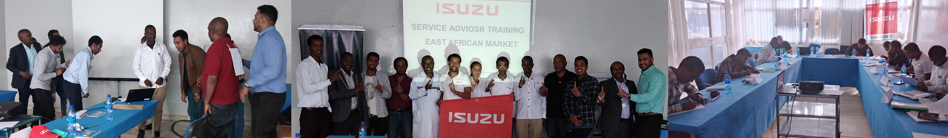 Isuzu Conducted Service Training for East Africa Banner