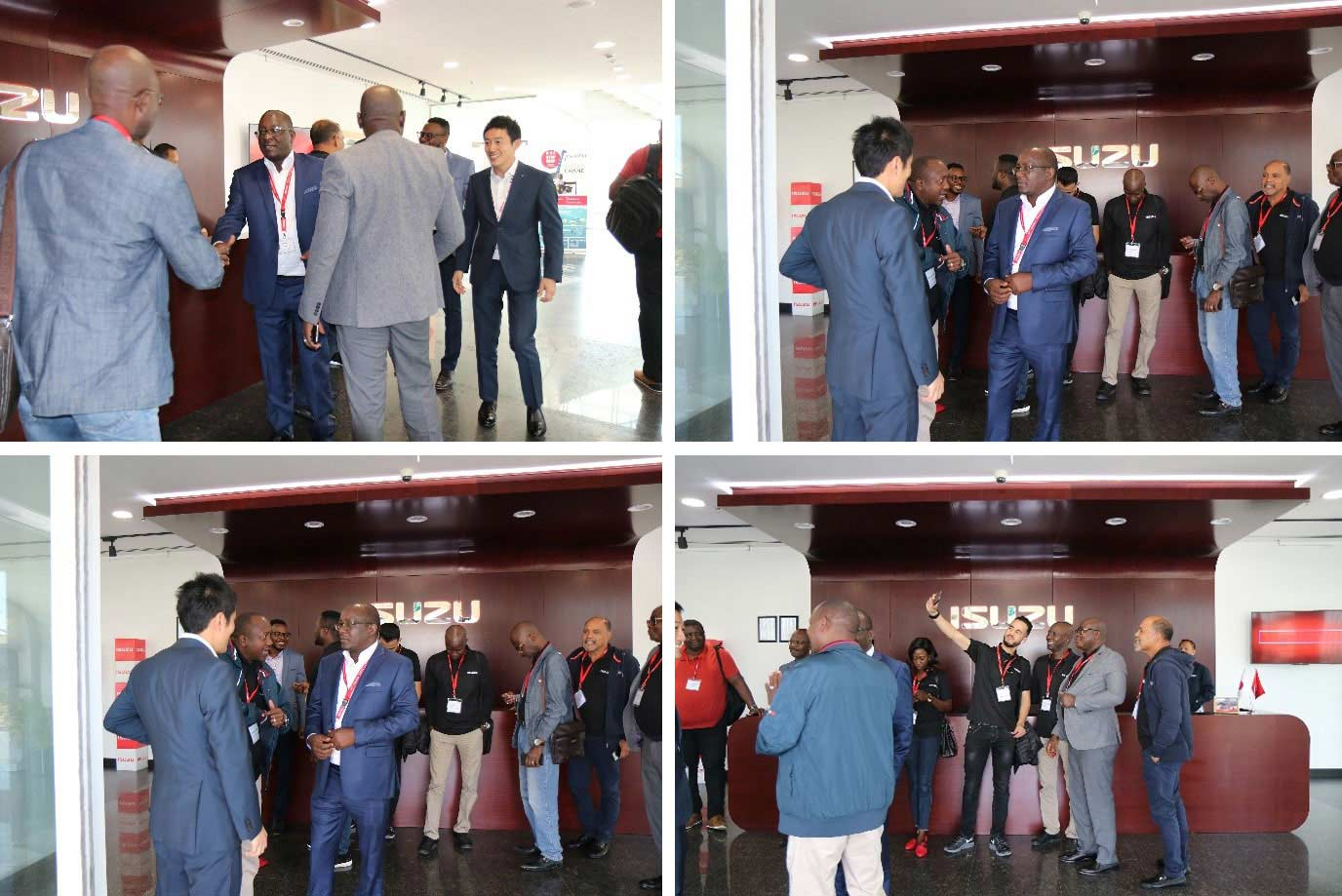 Isuzu Sales Challenge Winners being welcomed to Isuzu Motors International Office