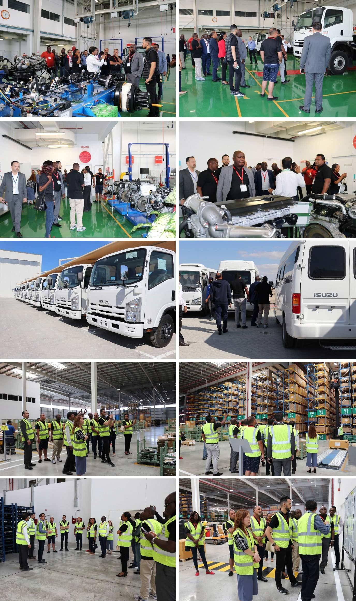 Isuzu Sales Challenge Winners visiting the Isuzu Motors International FZE Facility