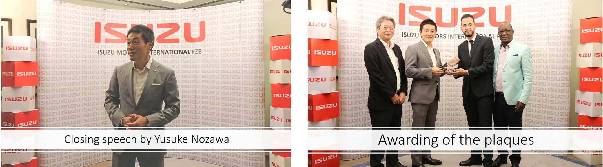 Isuzu Sales Challenge Africa Closing Speech and Plaques Awarding