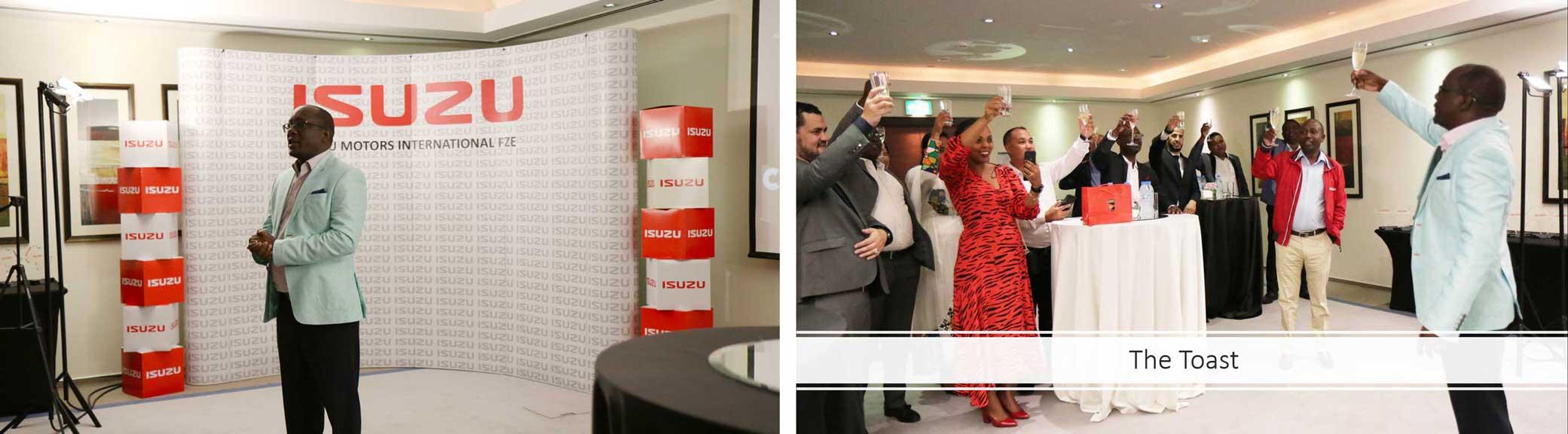 Isuzu Sales Challenge Africa Winners Toast and Speech Photo