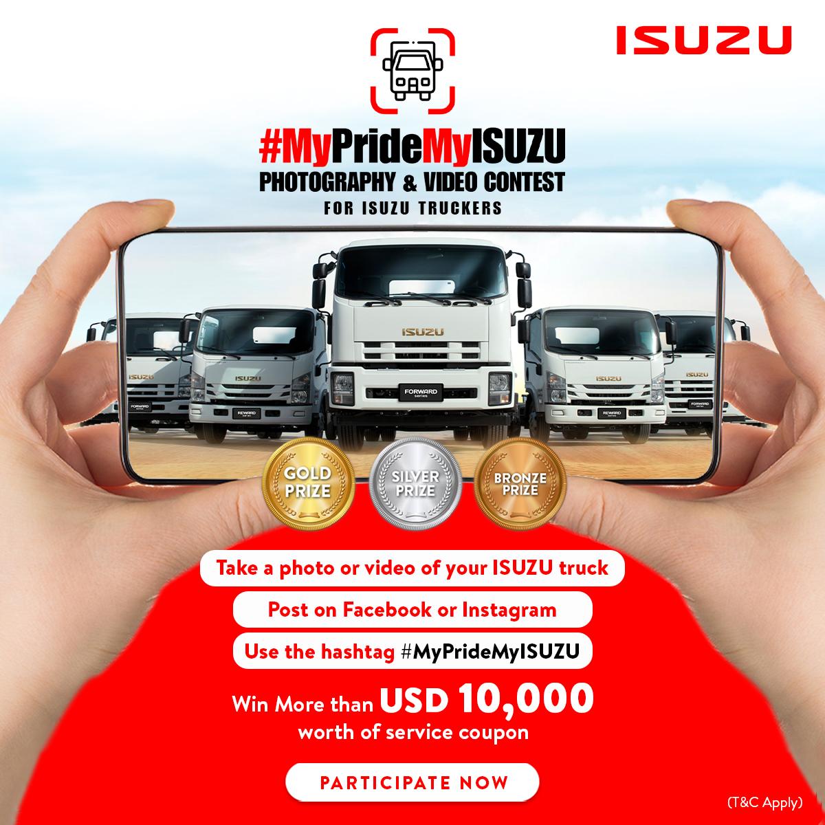 Terms and Conditions for #MyPrideMyISUZU a Social Media Contest by ISUZU