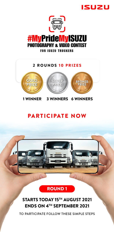 ISUZU Social Media Contest #MyPrideMyISUZU Banner