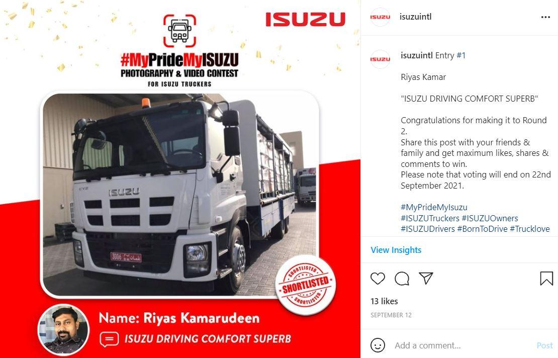 IG - Bronze Winner - OMAN MyPrideMyISUZU