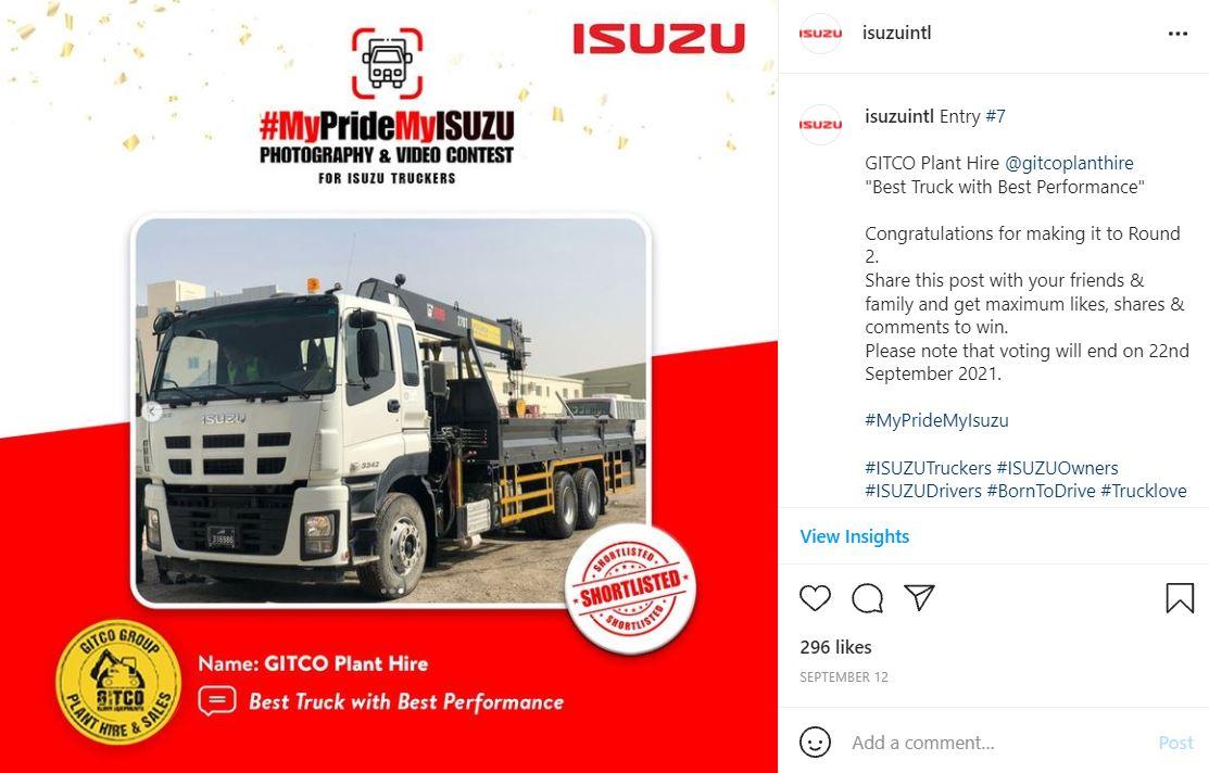 IG - Silver Winner - Qatar GITCO MyPrideMyISUZUU