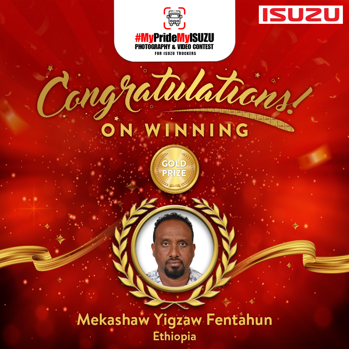 Gold Prize Winner - #MyPrideMyISUZU Mekashaw